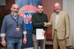 Undirskrift samnings við Rannís sem er umsjónaraðili fyrir Erasmus+ á Íslandi.
